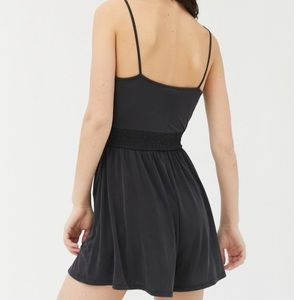 Urban Outfitters Santorini Cupro Tie Front Romper